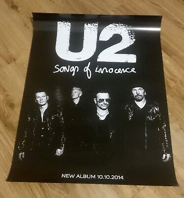 U2 Songs of Innocence OFFICIAL POSTER VERY RARE, Promo, Limited Edition