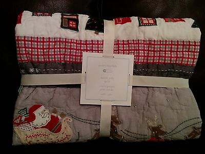 New Pottery Barn Kids North Pole nursery toddler quilt crib Christmas Last One!