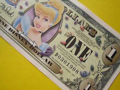 ZIPPY'S MINT Disney Dollars 2005 *** D0301908 *** CINDERELLA $1 *** RARE ***