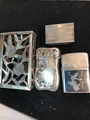 4 sterling silver match box Collection
