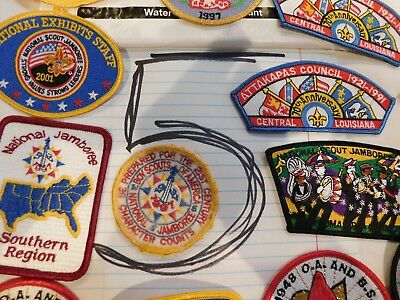 BSA Patches 40+ OA Jamborees Camps States Events Colorful Chiefs Paths Lot 5