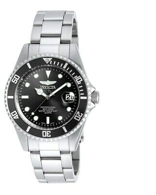 new Invicta 8932OB Men's Pro Diver Black Dial SS Bracelet Dive Watch