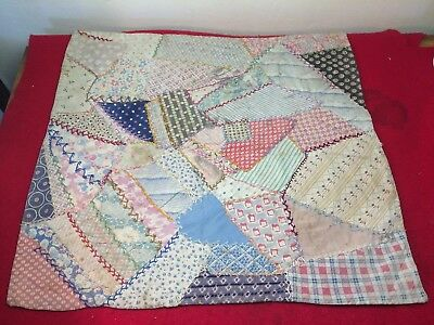 """Antique Vintage 1920s/30s Patchwork Doll Baby Quilt 21""""x21"""" Old Beauty!"""