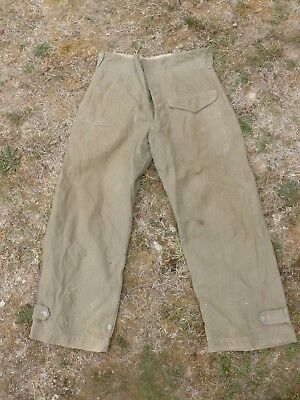 Pantalon Jungle Anglais Reutilise Armee Francaise En Indochine