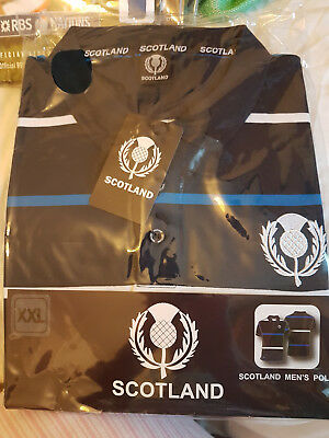 Scotland     Rugby Union Polo Top    New  Sealed In Bag  Size Xx  Large