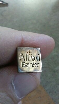Vintage Allied Bank Company Sterling Silver Pin by Tiffany & Co.