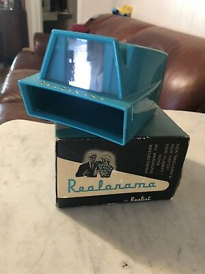 Vintage Realorama 35mm & Superslides Viewer In Box By Realist   L1
