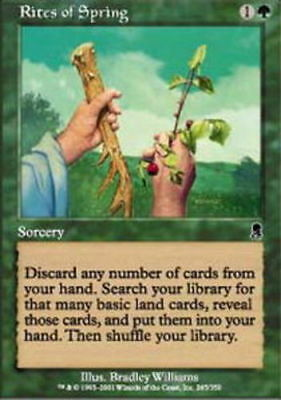 4x Rites of Spring MTG Odyssey NM Magic Regular