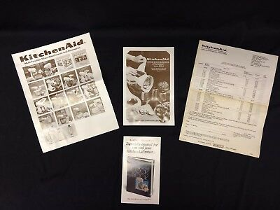 VTG Kitchenaid RVS-A Rotor Slicer & Shredder Attachment Instructions and Papers