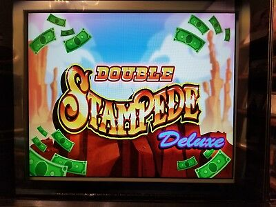 Wms Double Stampede Deluxe Bb1 Dual Screen Game Software Williams Bluebird 1