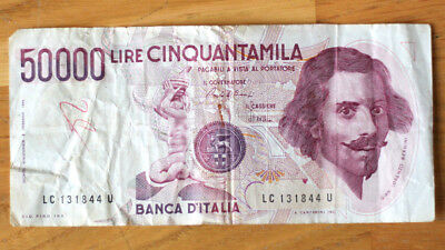 50.000 Lire, Bank of Italy, 1984.