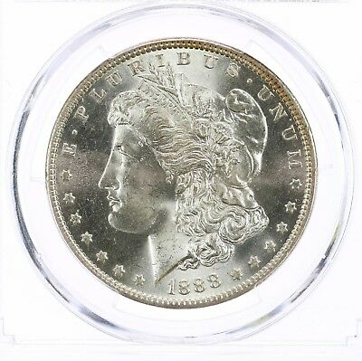 1888-O Morgan $1 PCGS CAC Certified MS64 New Orleans Mint Silver Dollar Coin