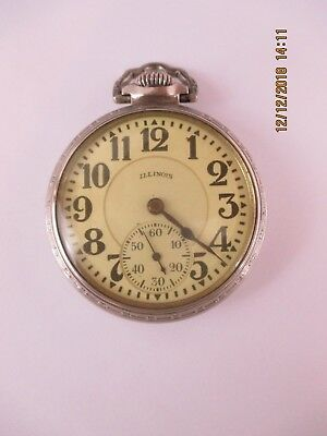 Illinois Bunn Special Pocket Watch 14Kt Gf 21J 16S - Working