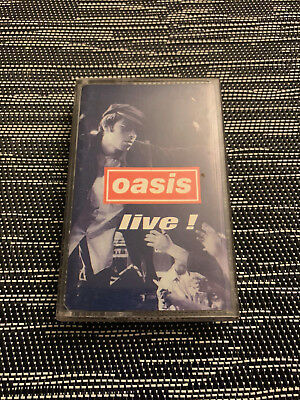 Oasis - live! extremely rare Promo Cassette / Tape
