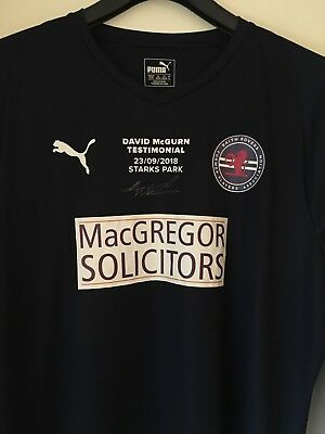 Signed David McGurn Raith Rovers Testimonial Match Shirt - Rare collectors item