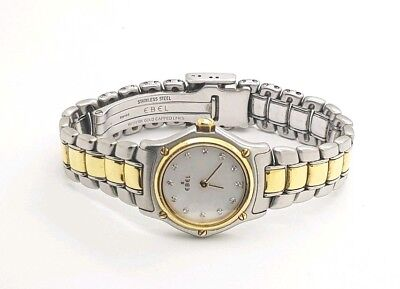 Ladies Ebel 18K Gold Diamond Wristwatch Mother of Pearl Dial Ebel Classis 1911