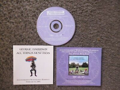 """""""all Things Must Pass: A Conversation With George Harrison Feb.2001"""" Promo Cd"""