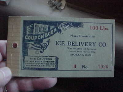 Ice Delivery Co. Booklet  Spokane, Wash.  1930's  Coupon Booklet