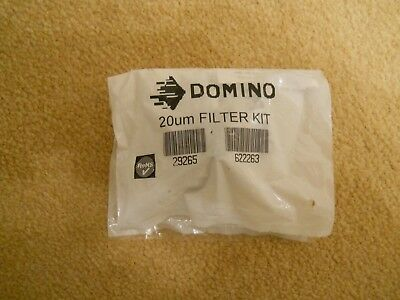 Domino 29265 Filter Kit 20 Micron - Genuine Spares Brand New