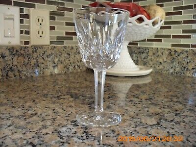 "Waterford Crystal LISMORE Claret Wine Glasses, 5 7/8"" Tall"