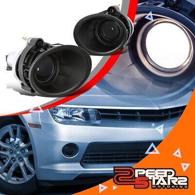 2Pcs Projector Fog Light/lamps W/bezel+Switch For 14-15 Chevy Camaro Ls/lt 3.6L