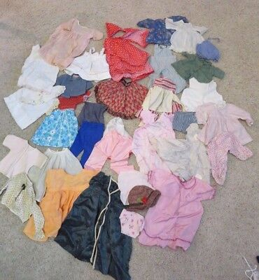 Large Vintage lot of Baby doll clothes, over 35 pieces!