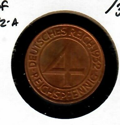 Germany 4 reichspfennig 1932-A Uncirculated