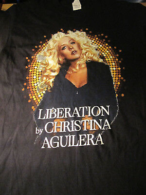 Christina Aquilera Concert T-Shirt Size Small unoffical