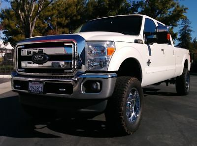2012 F-350 Lariat Pickup 4D 8 ft White Platinum Ford F350 Super Duty Crew Cab with 48,323 Miles available now!