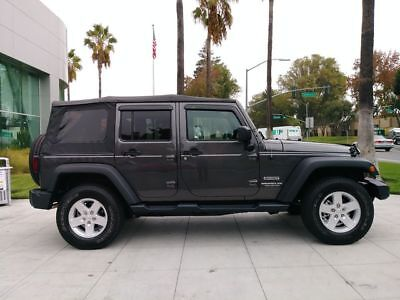 2017 Wrangler Sport SUV 4D Gray Jeep Wrangler Unlimited with 12,294 Miles available now!