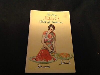 #81 Vintage 1930 Jello Cook Booklet The New Book Of Surprises