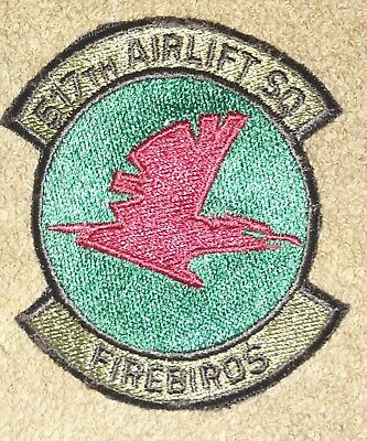 US Air Force 517th Airlift Squadron OD Subdued Squadron Patch