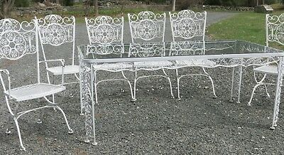 Vintage Woodard Andalusian Patio Dining Set