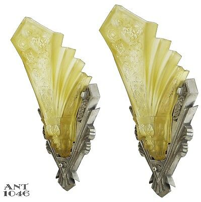 Fine Consolidated Lamp & Glass Co.. Martele Pair of Sconces ANT-1046