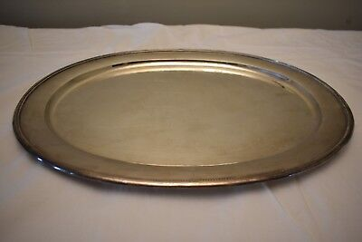 """A LARGE Georg JENSEN Sterling SILVER Meat TRAY 240X 18.5"""" x 15"""" 66 Ounces"""