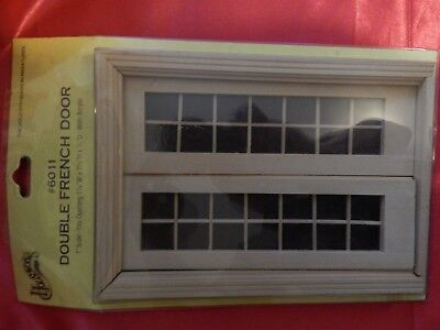 Houseworks Dollhouse Miniature Double French Doors #6011