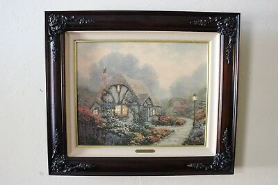 "Thomas Kinkade ""Chandler's Cottage"" Limited Framed Canvas Print; #166/550 w/ COA"