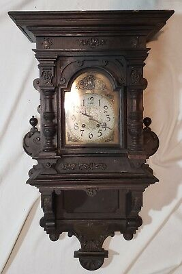 1897 Lenzkirch German Military wall clock to The Captain from WURMB by Officers