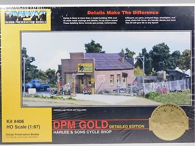 HO 1/87 Scale DPM #406 Harlee & Sons Cycle Shop Model Building Kit SEALED