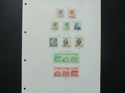 ESTATE: Australian Pre Decimal Collection on Pages - Must Have!! FREE POST (229)