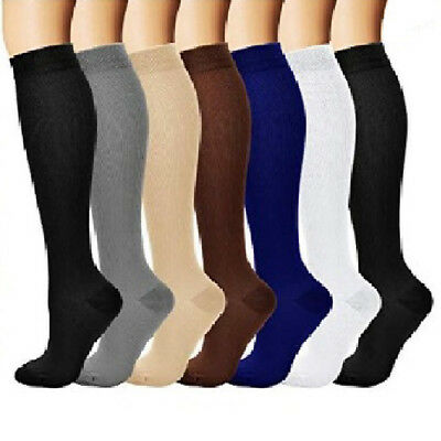 Running Sports Solid Athletic Medical Compression Socks Long Stockings Novelty