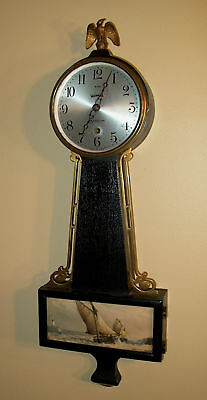 Sessions Provincetown 8 Day Banjo Clock, Nice Running Condition