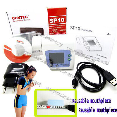 Digital Spirometer CONTEC SP10BT Lung Breathing Diagnostic Vitalograph,Bluetooth