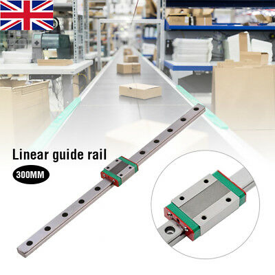 CNC 300mm Metal MGN12 Linear Slide Rail with MGN12H Carriage Block UK STOCK