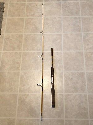 Rare - Ricky Miami, Fl. Model  66-2 Fishing Rod Stainless Steel Guides Cork !