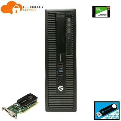 HP EliteDesk 800 G1 SFF Desktop PC Intel i5-4570 @3.20Ghz 8GB RAM 500GB Win10 W