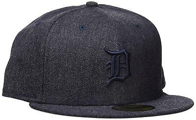 Detroit Tigers New Era 'Total Tone' Fitted Baseball Hat Grey 7 1/8 56.8cm New