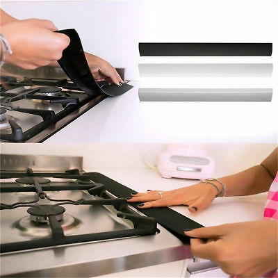 Kitchen 1PCS Stove Counter Gap Cover Silicone Oven Guard Spill Seal Slit Filler