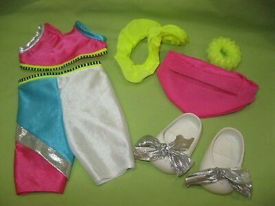 GALOOB Vintage 1990's Baby Face Doll FASHION Outfit & Shoes WORKIN' OUT