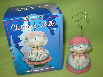 Cast Art 1997 Fabrizio BUMPKINS Christmas Bells MRS. CLAUS Ornament Figurine
